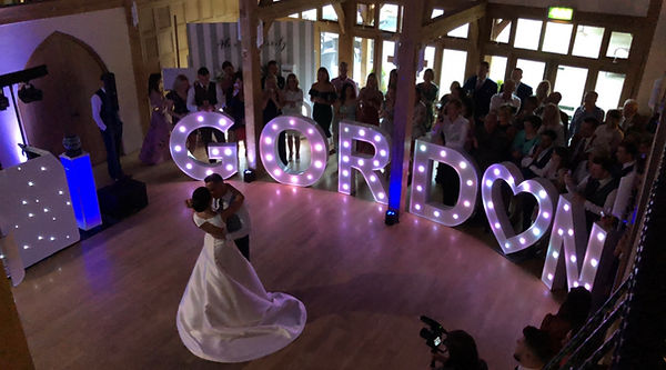 LED Light Up Letter Hire - can be fully customised to your name