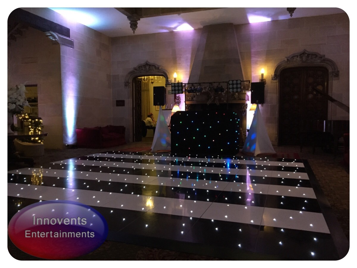 Black and white led dance floor