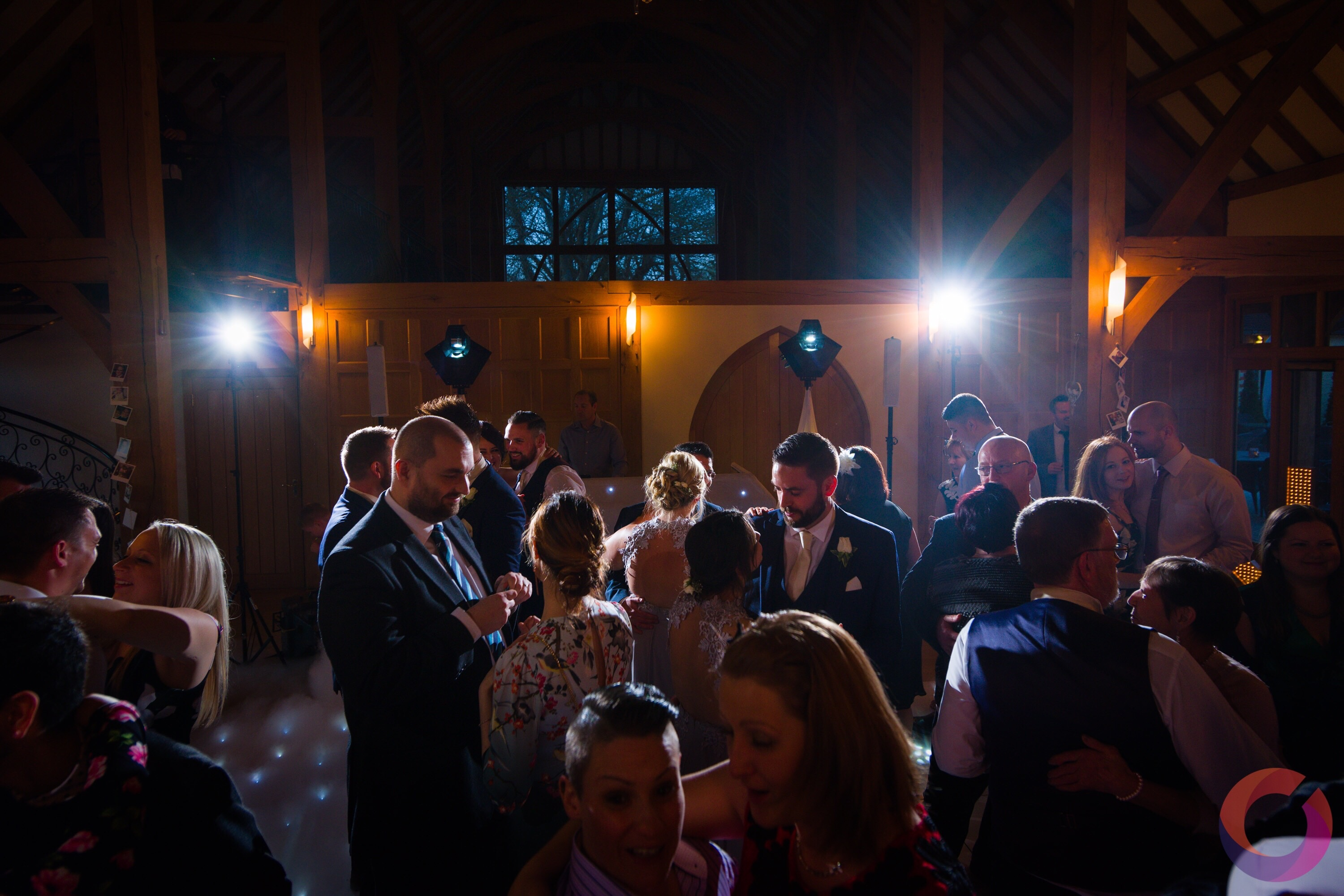 Guests dancing at Rivervale Barn