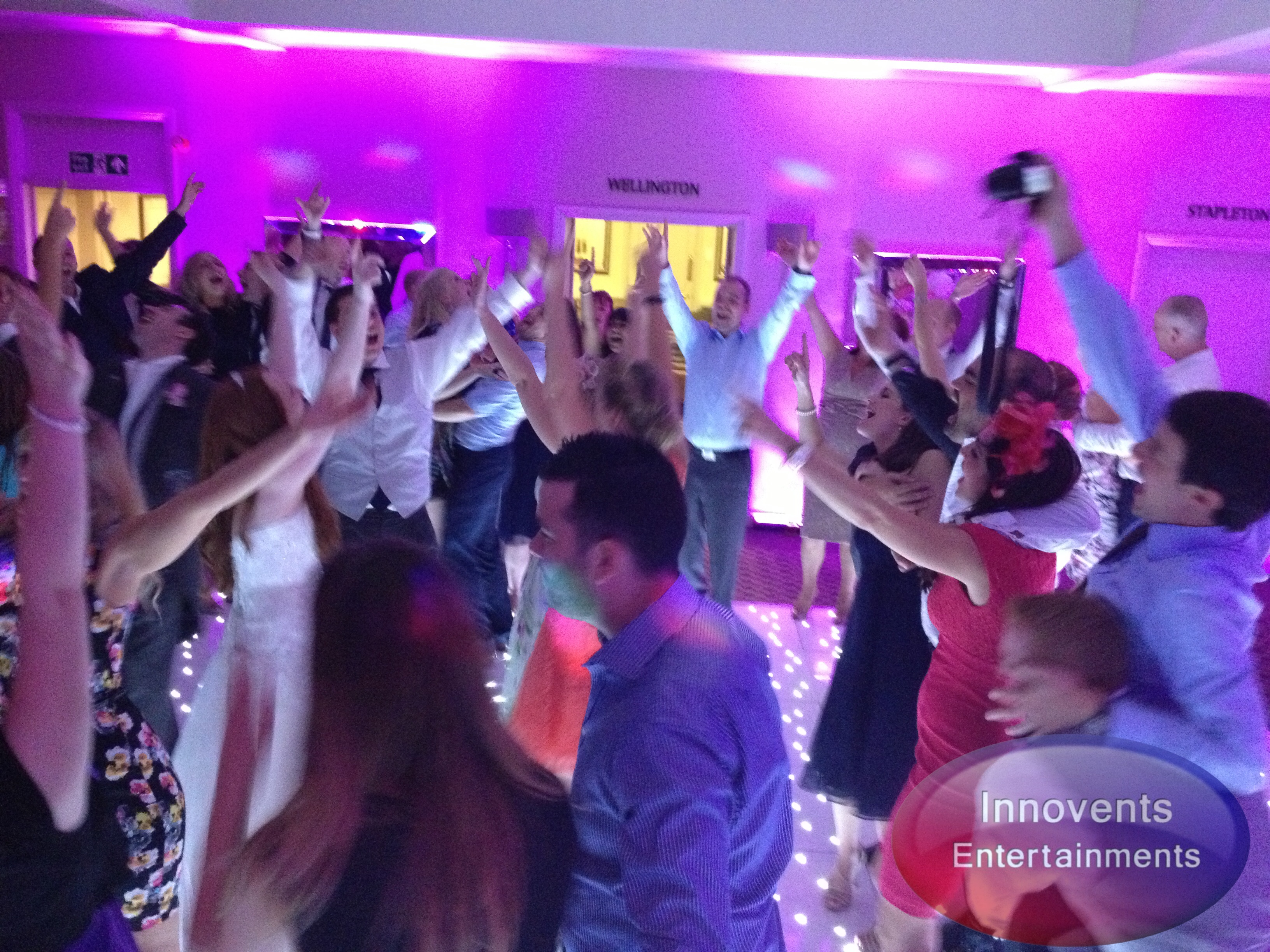 Mobile Disco at a wedding