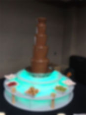 Standard chocolate fountain for hire in Berkshire, Hampshire and Surrey