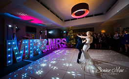 Wedding with MR & Mrs Light Up Letters for hire