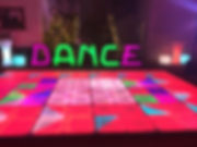 Dance letters with retro dance floor.JPG