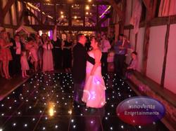 Black led dance floor - Loseley Park