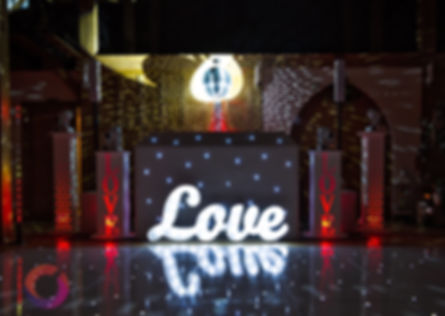 led love sign for a wedding in Berkshire