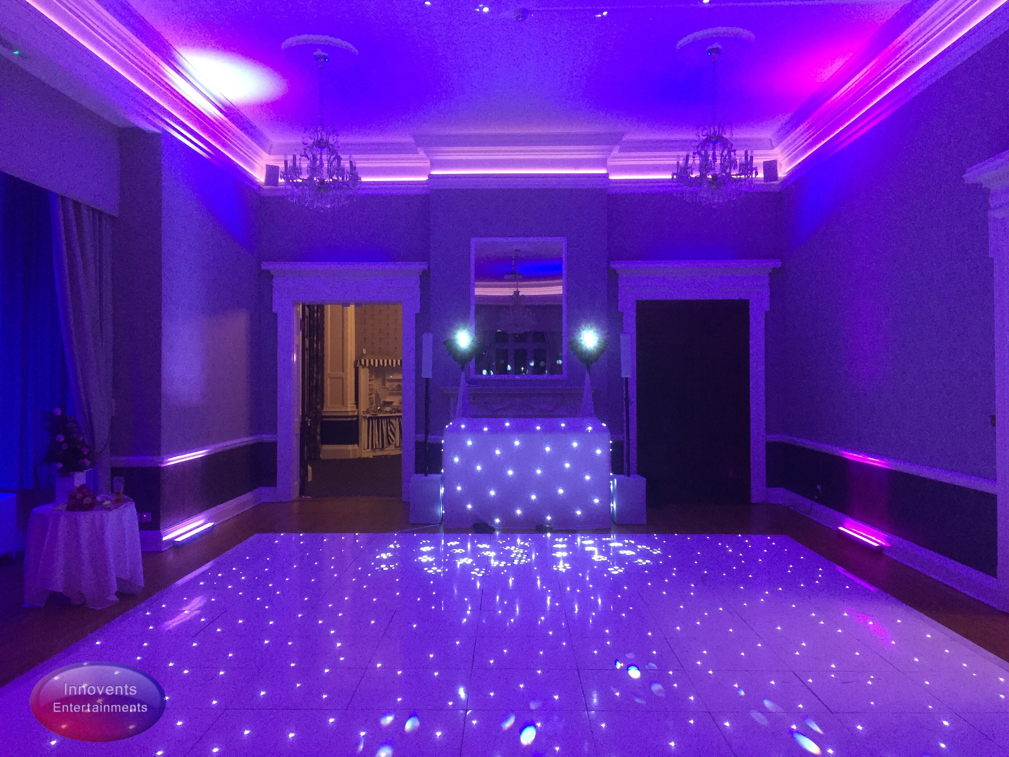White dance floor and disco