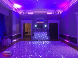 White dance floor and disco