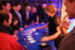 People being Entertained playing fun casino at a party in Ascot, Berkshire