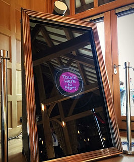 Magic Mirror on hire at Rivervale Barn in Yateley, Hampshire