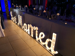Just Married sign for weddings