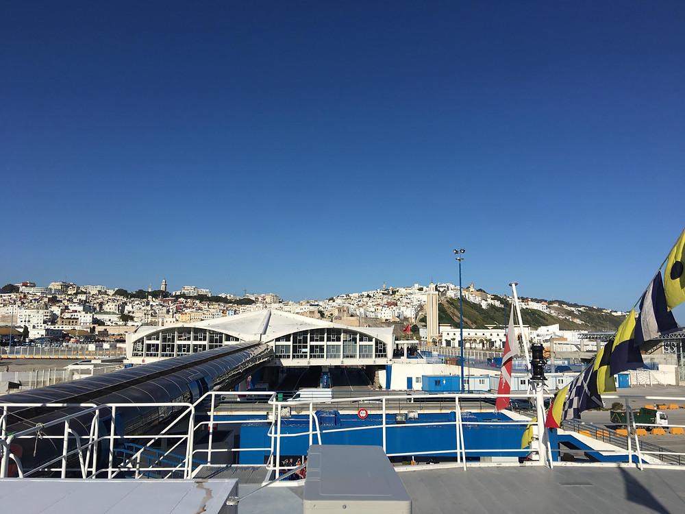Tanger Ville Port and old medina