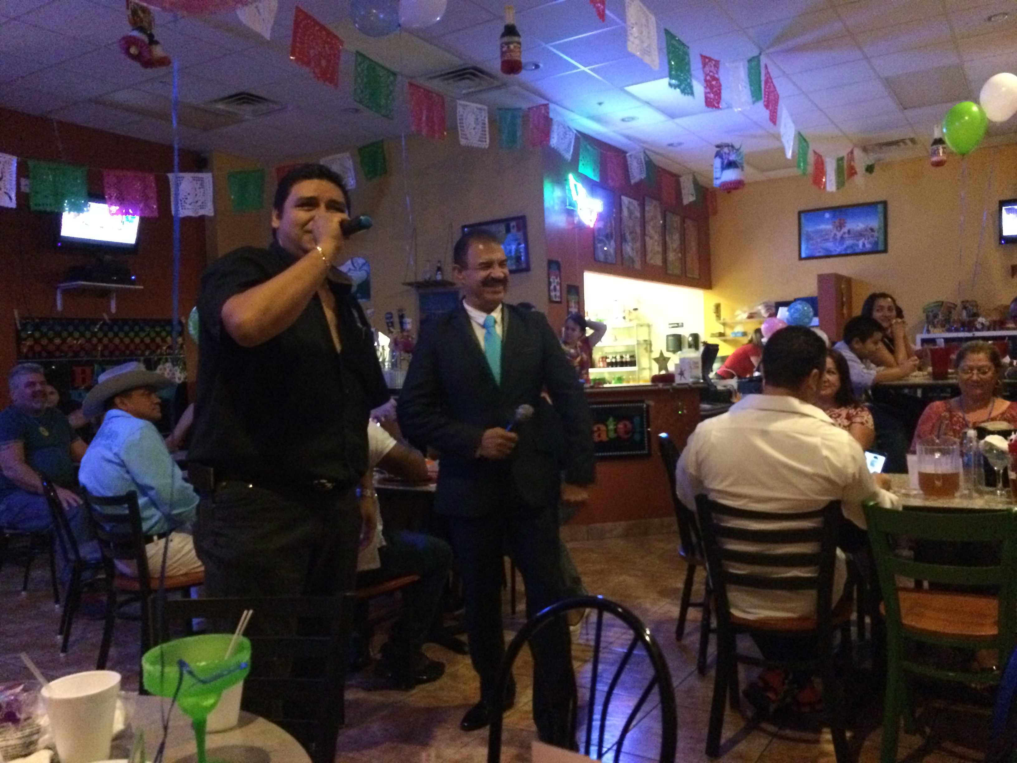 Owner, Carlos Pina on Karaoke Night
