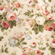 AUTUMN ROSES apricot olive green