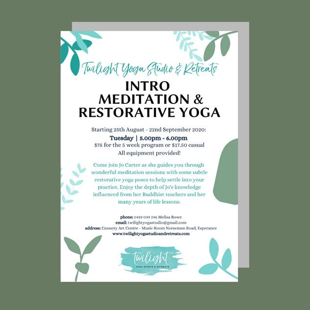 Twilight Yoga Studio & Retreats - Flyer