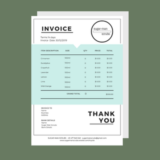Sugar-Man Scrubs - Invoice
