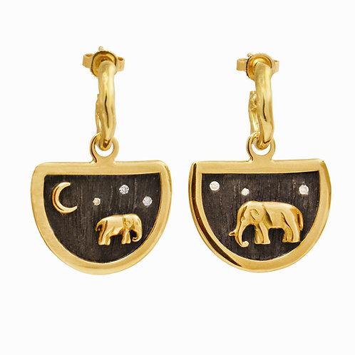 Tsavo Nights Elephant Earring Charms