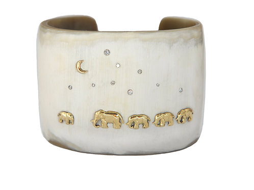 Classic Horn Tsavo Nights Cuff - White/Tan