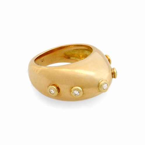Djenné Diamond Studded Dome Ring