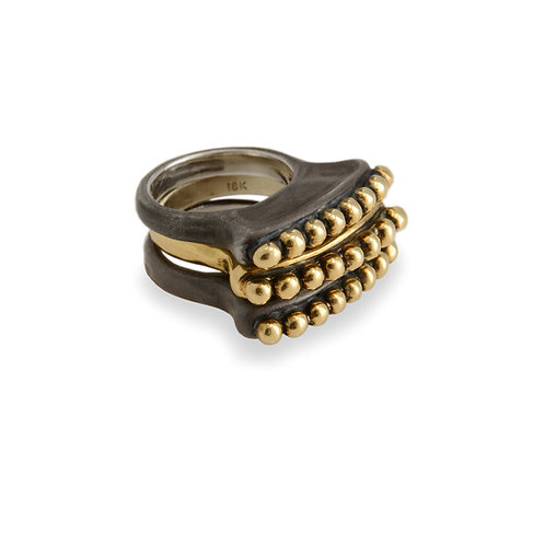 Mixed Molten Dotted Sudan Rings