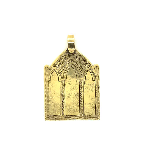 Gold Temple Pendant