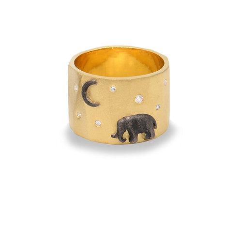 Gold Tsavo Nights Ring