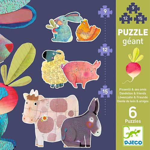 Puzzle progresivo gigante Dandelion
