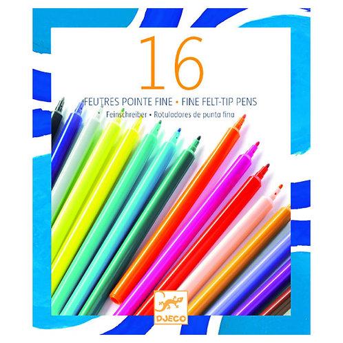 16 Lápices punta fina