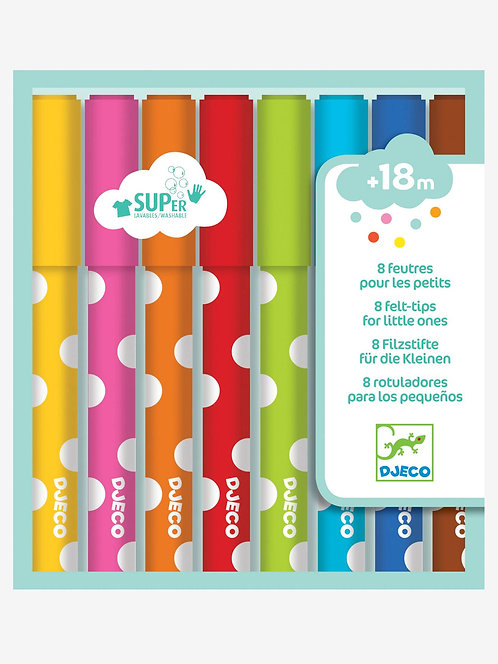 8 lápices suaves de fieltro