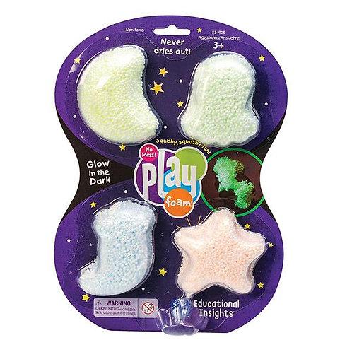 Playfoam brilla en la oscuridad - 4 unidades
