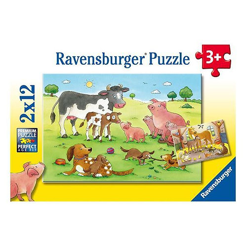 Puzzle 2x12 Familia de Animales