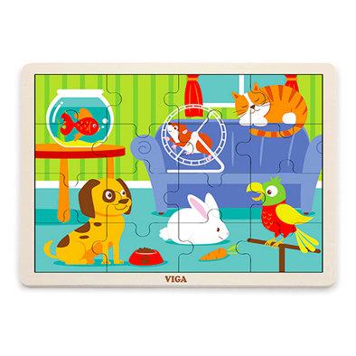 Puzzle 16p. Mascotas