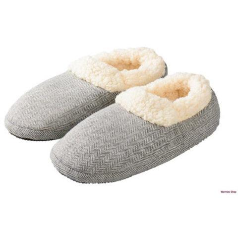 Warmies slippers visgraat grijs Maat 37/41