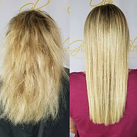 Beautiful keratin treatment done by our