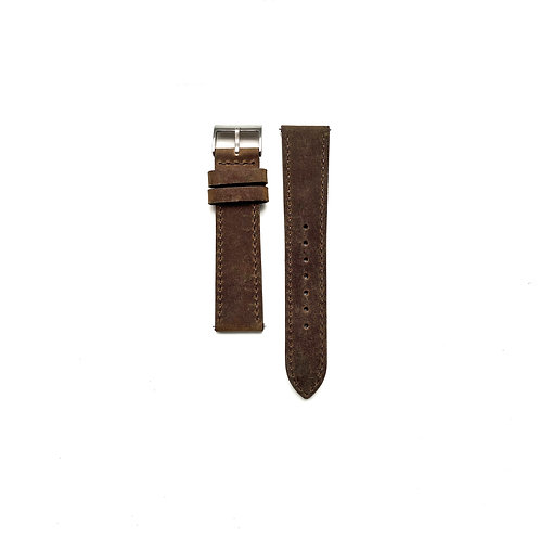 Textured Hide Taupe Leather Strap