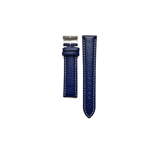 Textured Hide Azure Leather Strap