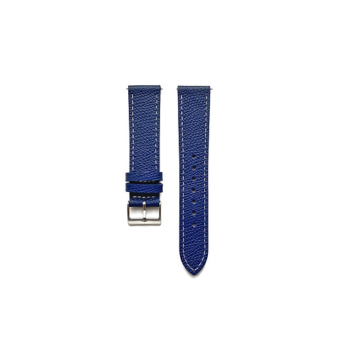 Textured Cobalt Leather Strap
