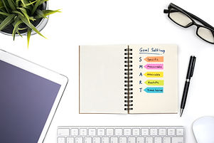 Canva - Smart goal setting with notebook
