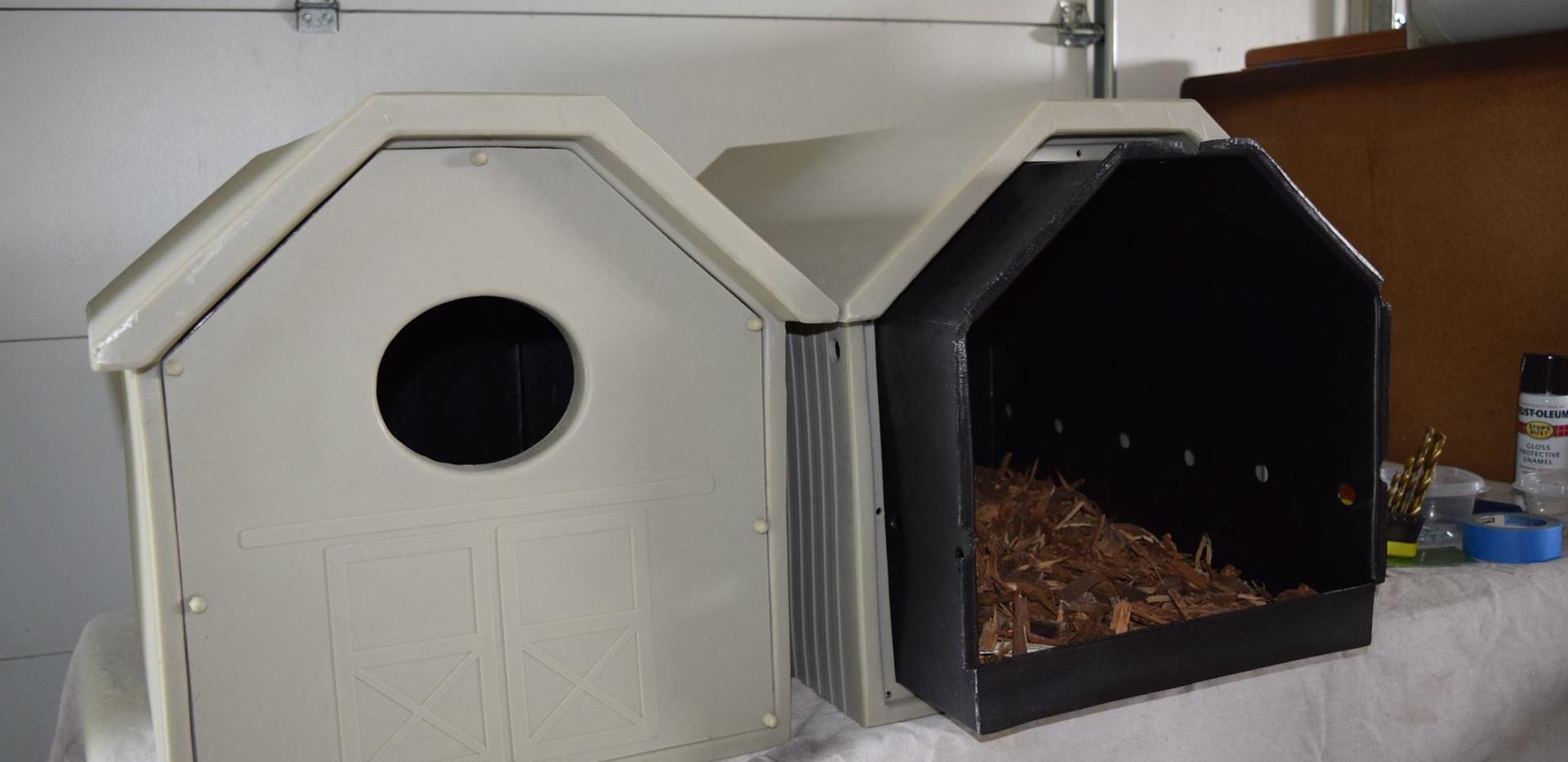 Owl Box displayed