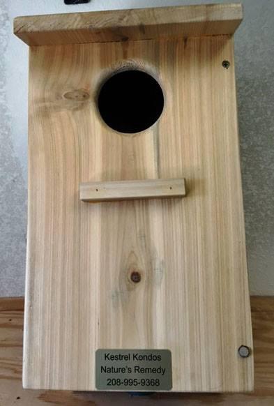 Closeup of a kestral box
