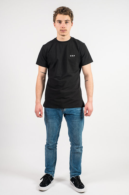 T-Shirt noir brodé monogramme