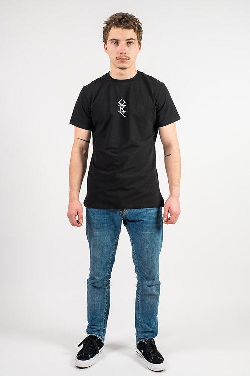 T-Shirt noir brodé tribal