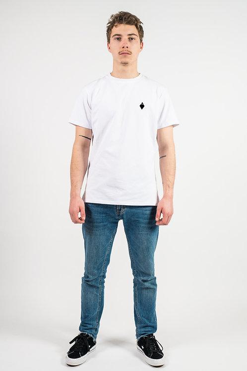 T-Shirt blanc brodé logo