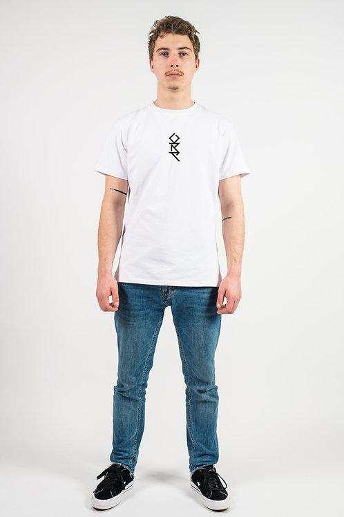 T-Shirt blanc brodé tribal