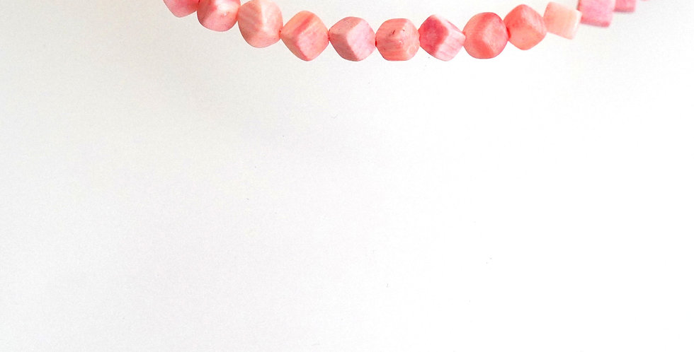 Pink Coral Cubes x 6