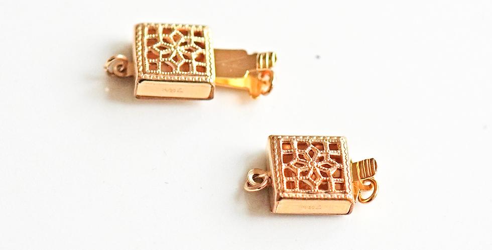 Mini Gold Square Clasp
