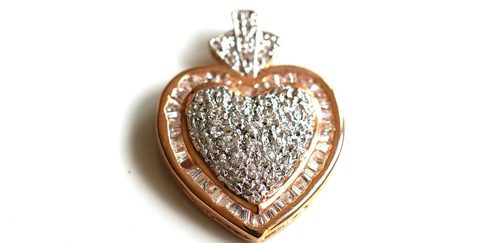 Gold Heart Pendants x 11