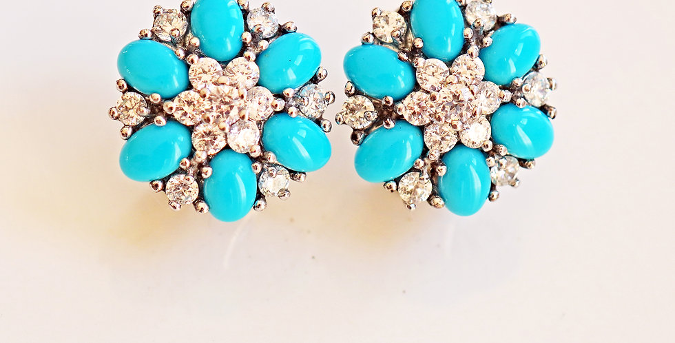 Turquoise Silver stones