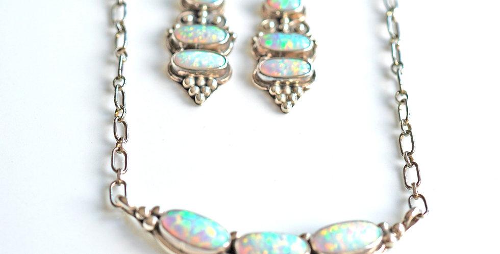 Silver Opal Sets x 2