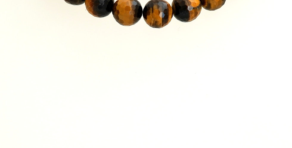 10mn Faceted Tiger Eye
