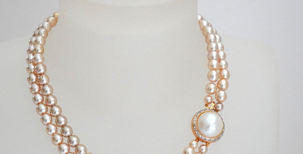 2 Rows Cream Necklace
